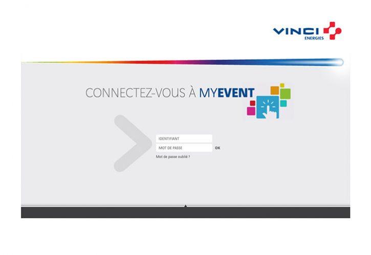 Plateforme MyEvent pour Vinci
