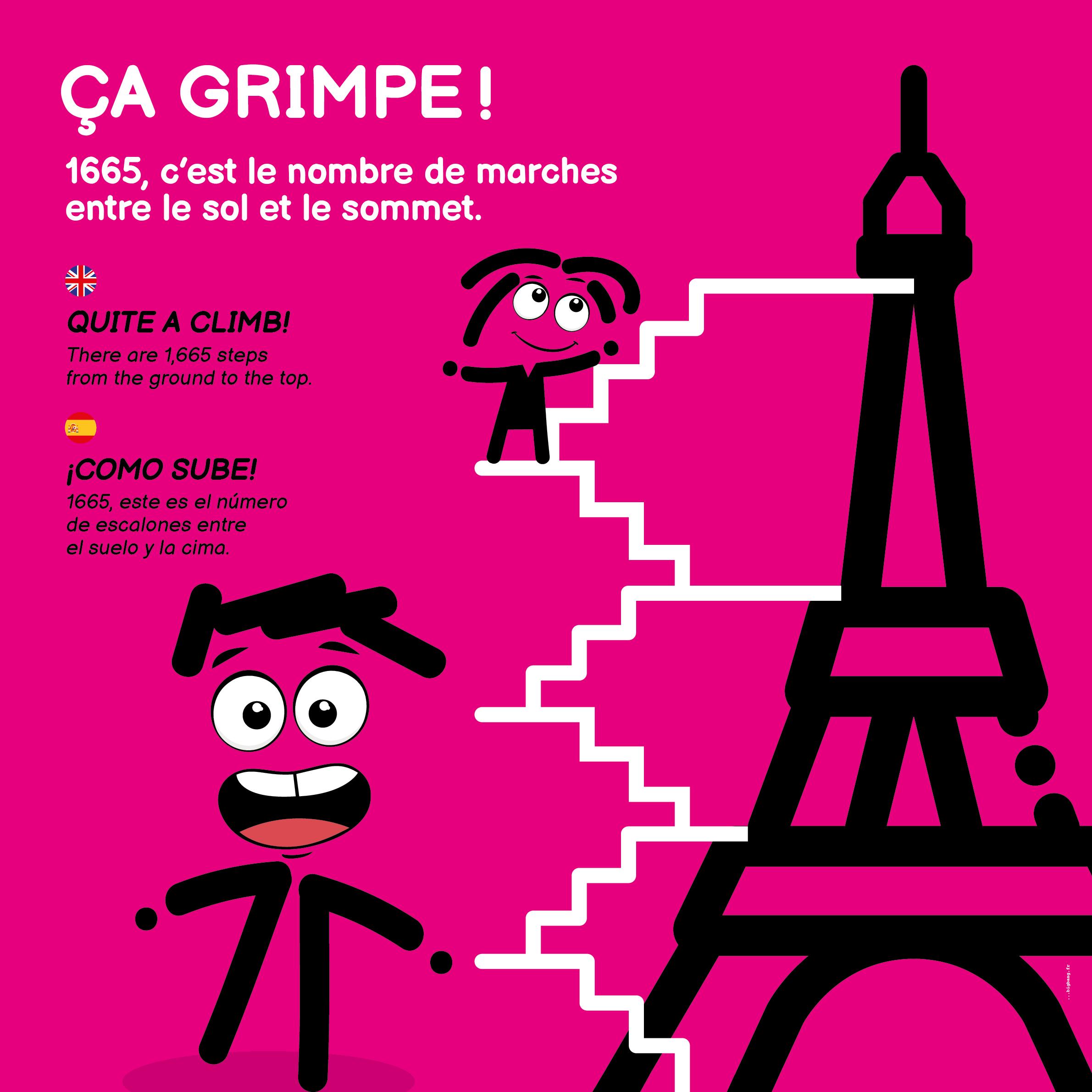 ça grimpe à la Tour Eiffel