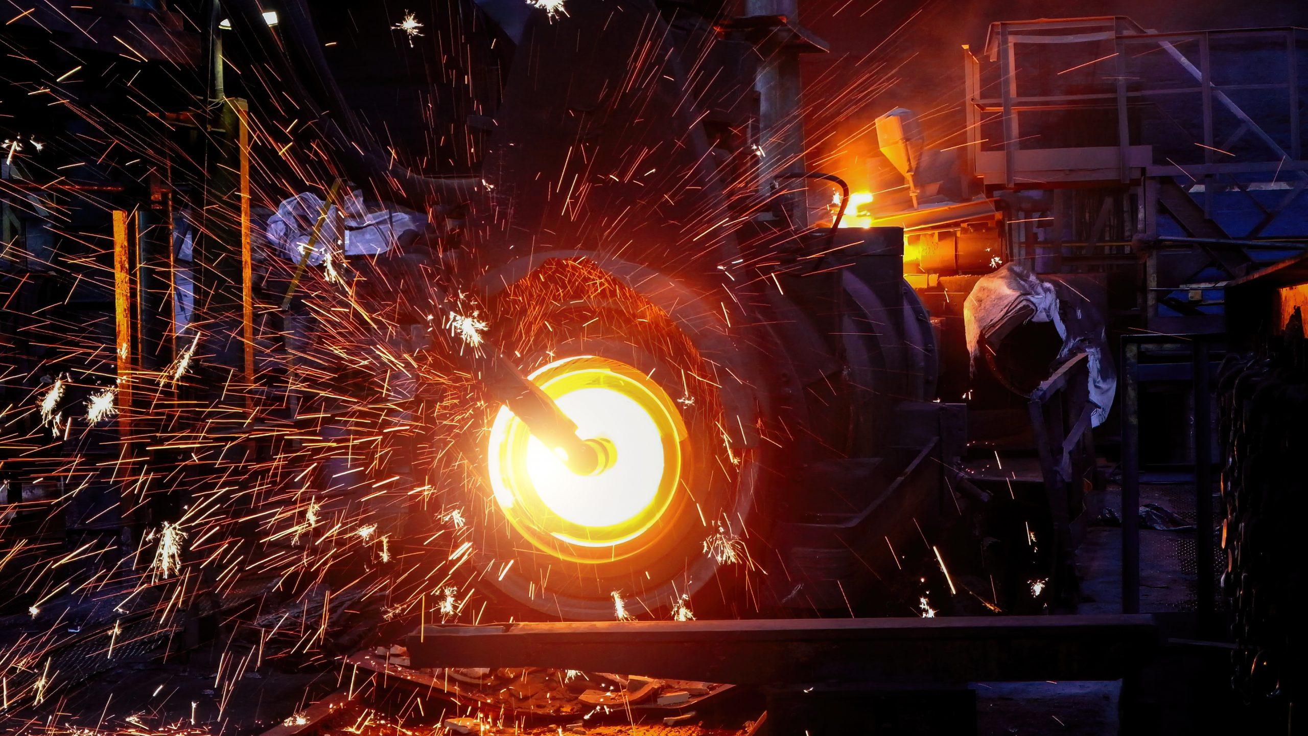 Machine de coulée centrifuge de tuyaux en fer à la fonderie